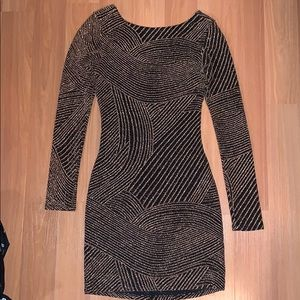 Altar'd State Gold and Black Dress Size XS